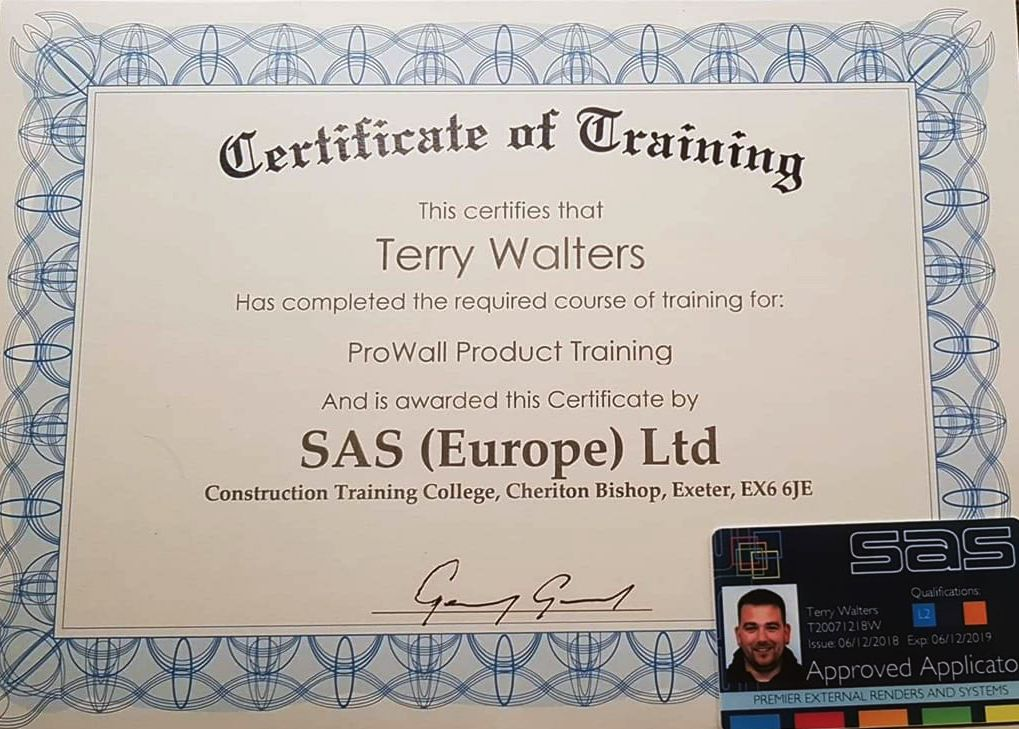 Recently completed SAS Training